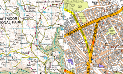 A-Z street mapping and Adventure Atlas mapping