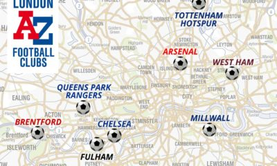 London football clubs map