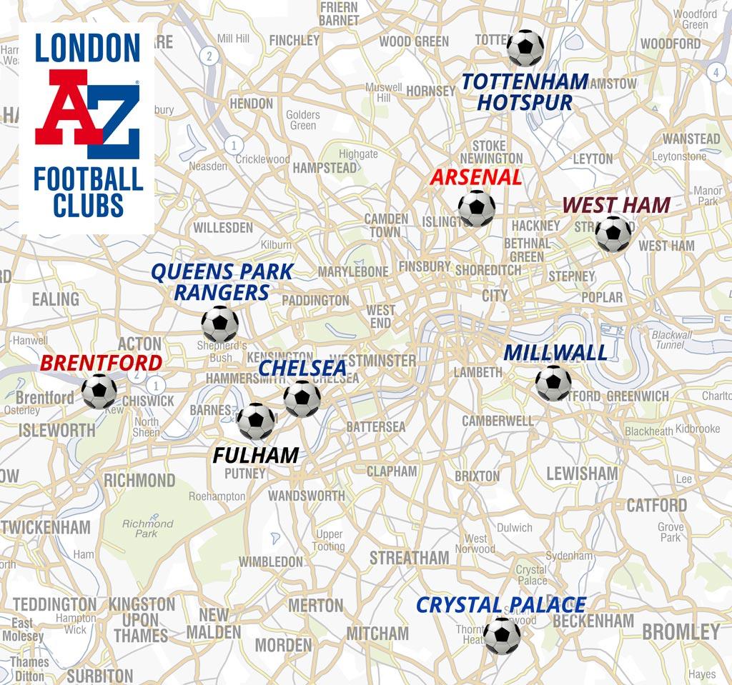 London Football Clubs A Z Maps Blog